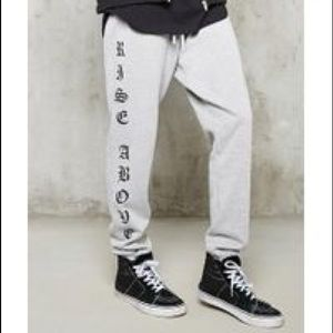 """FOREVER21 Men's """"Rise above"""" Sweats"""